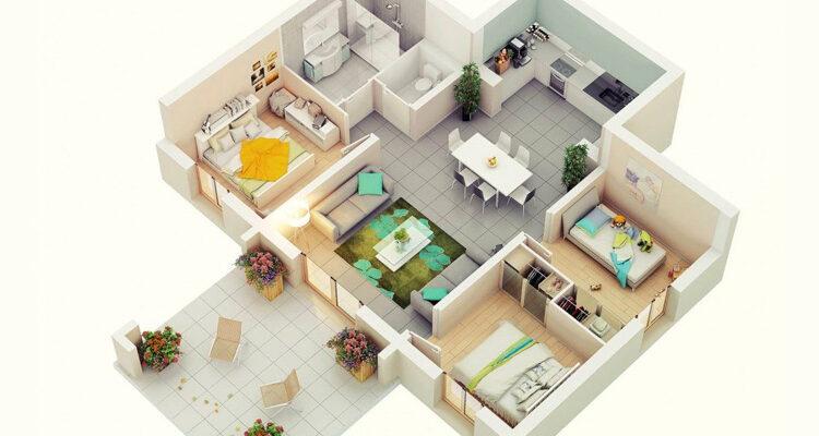 План дома по фен шуй, планировка и зонирование